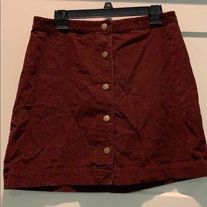 Old Navy maroon corduroy skirt.